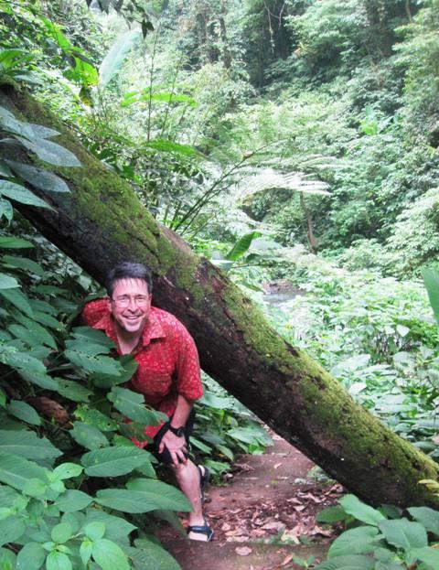 Overgrown path to Kali Waterfall