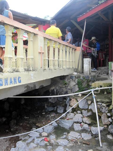PVC Pipe Channeling Sulfurous Water to Food Stalls at Bukit Kasih