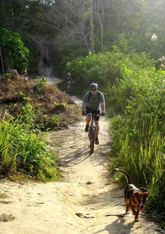 Returning from Bukit Dinding via bicycle