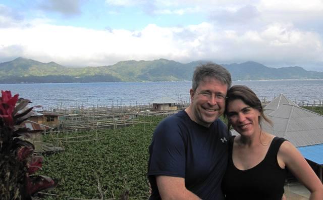 Sam and Jesse at Lake Tondano