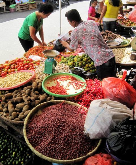 Vegetables at Tomohon Market.Sulawesi