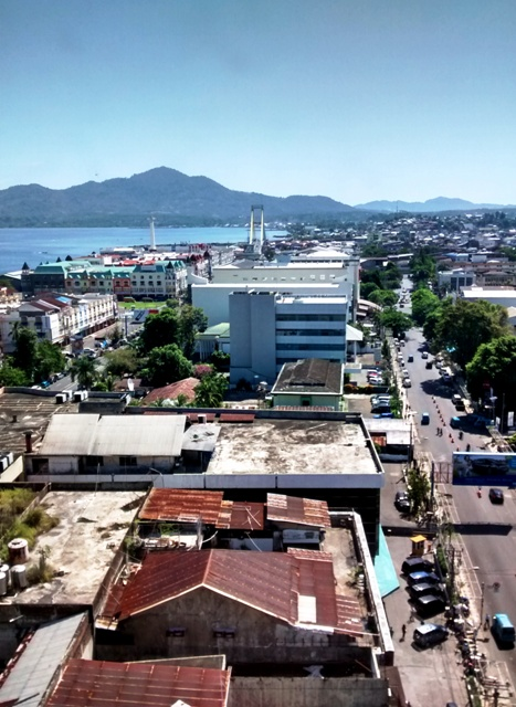 View of Downtown Manado from Hotel Aryaduta.2