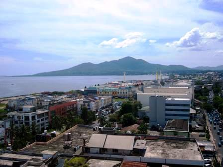 View of downtown Manado from Hotel Aryaduta