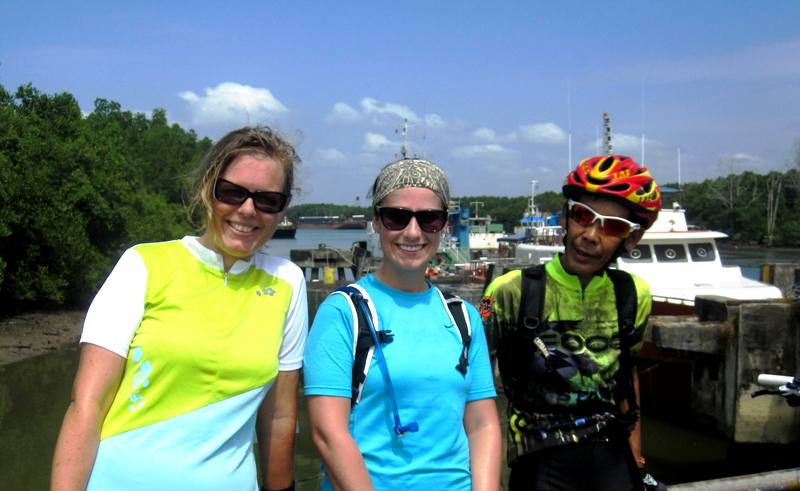 BIWA cycling group at KM 3, Old Ferry Terminal