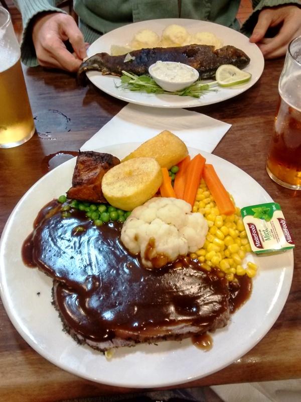Dinner at Cafe Mazz.Pemberton Australia