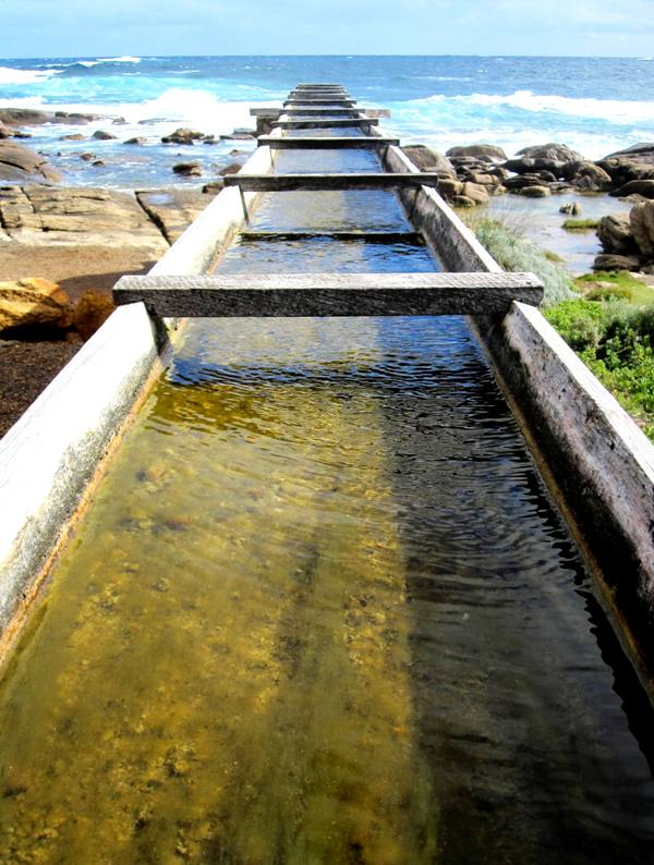 Flume to Leeuwin Lighthouse Waterwheel.Western Australia