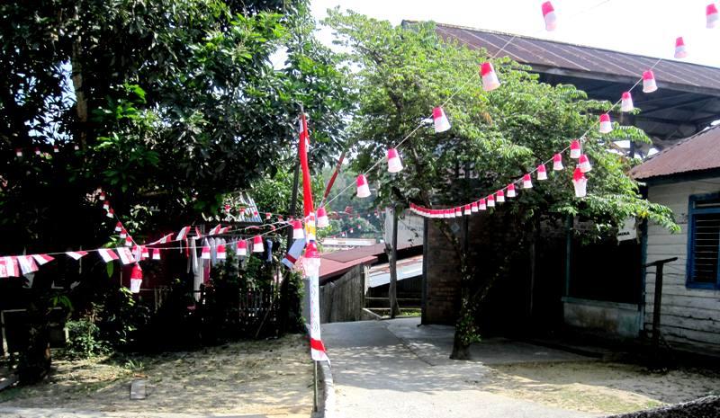 Independance Day Decor around kampungs in Balikpapan Indonesia