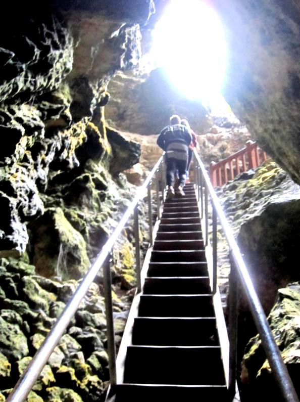 Stairway into Lake Cave.Western Australia
