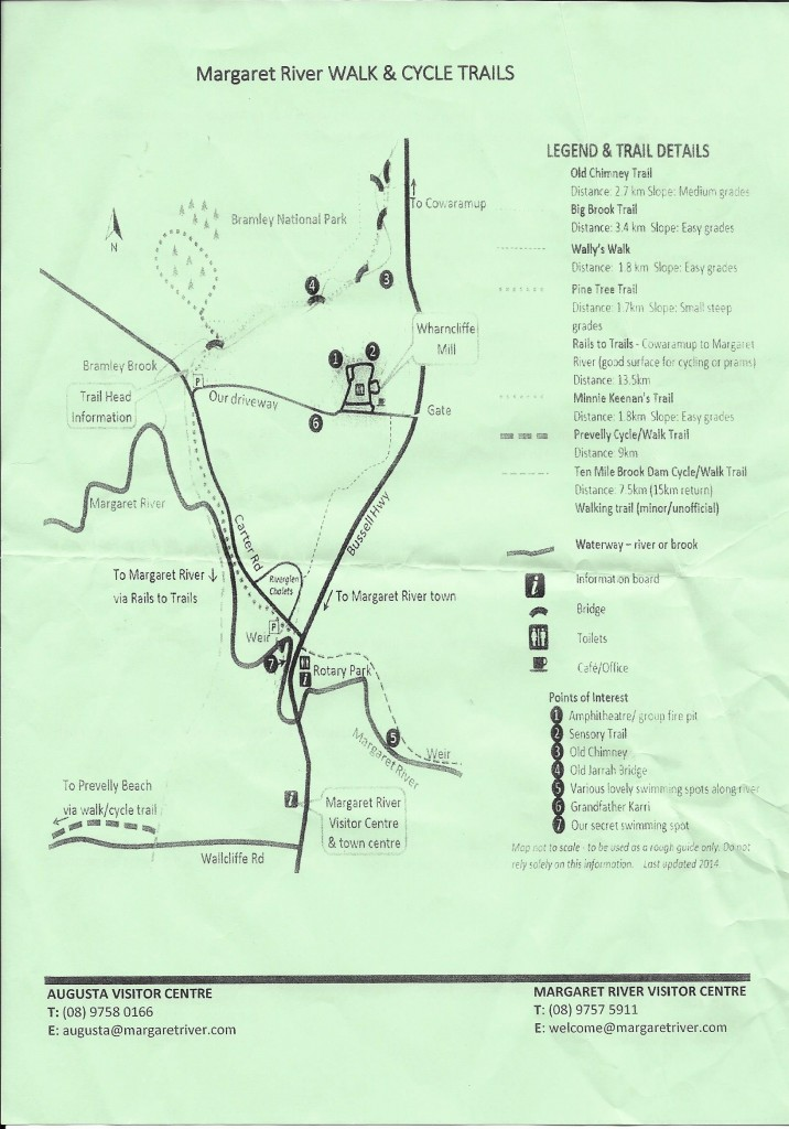 Margaret River Trail Map