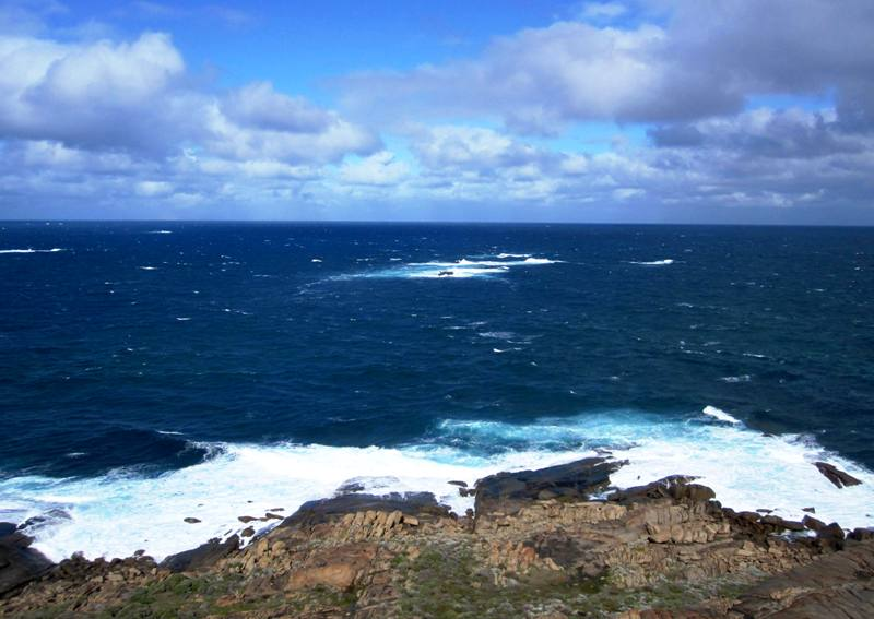 Meeting of Two Oceans from Cape Leeuwin Lighthouse.Western Australia