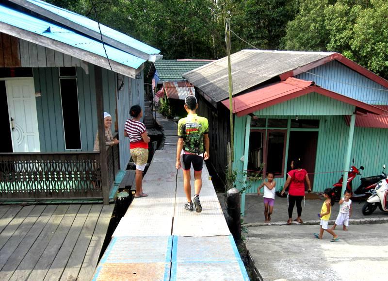 Pertamina Water Pipes in Kampung near KM 3.Balikpapan Indonesia