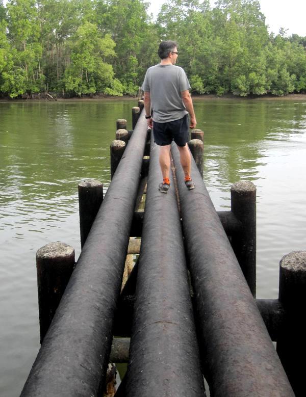 Pertamina Water Pipes near Pelabuan Ferry Tuah.Balikpapan Indonesia