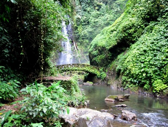 View of Kali Waterfall.Manado Sulawesi Indonesia