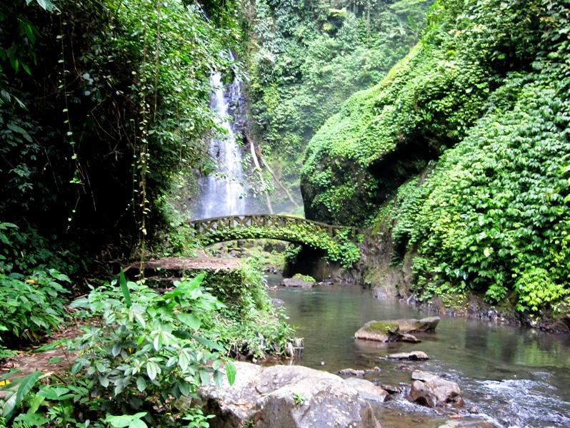View of Kali Waterfall.Manado Sulawesi Indonesia