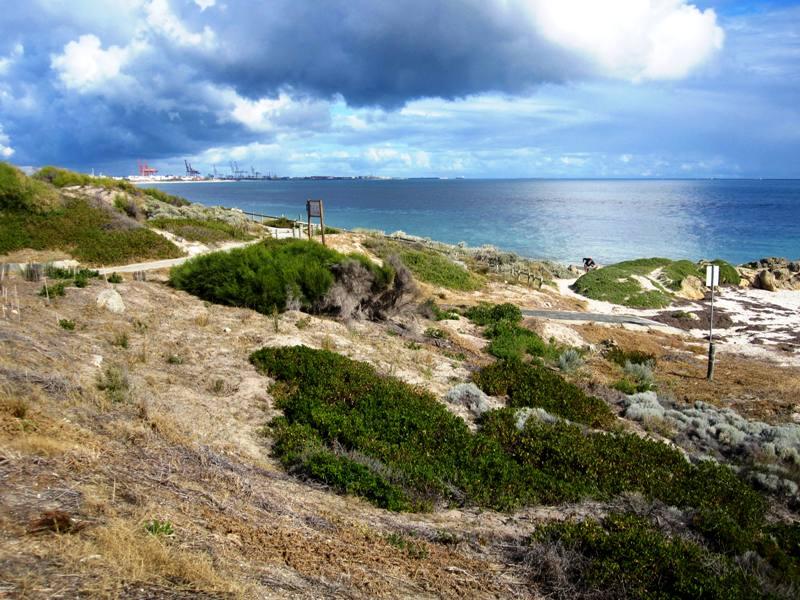 Bicycle Trails Fremantle to Perth Beaches.Western Australia