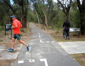 Cycling and Running Paths at Kings Park.Perth Australia