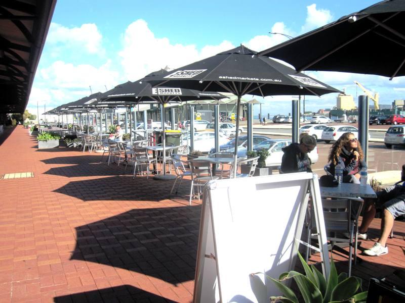 E Shed Markets Food Stall Area.Fremantle Australia