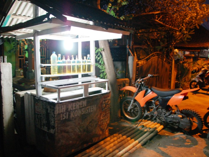 Local Gas Station.Pemuteran Bali