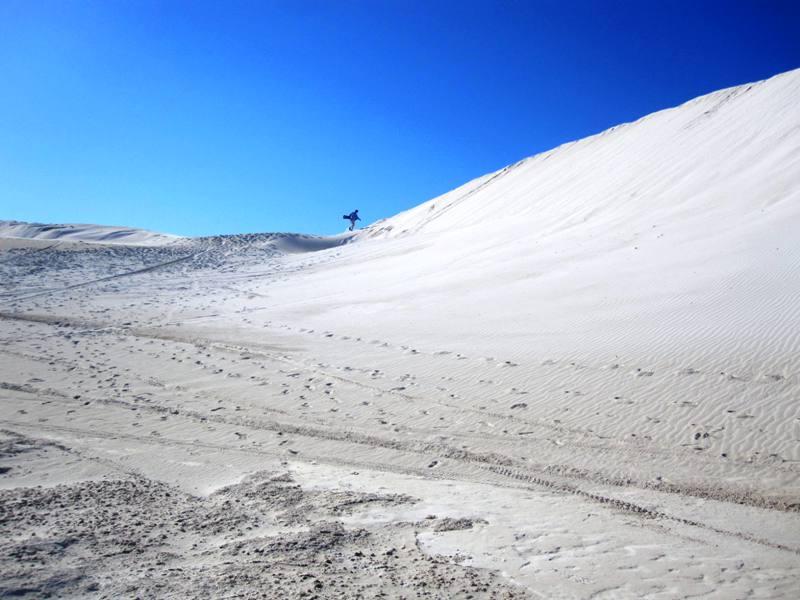 On top of Lancelin Sand Dunes.Western Australia