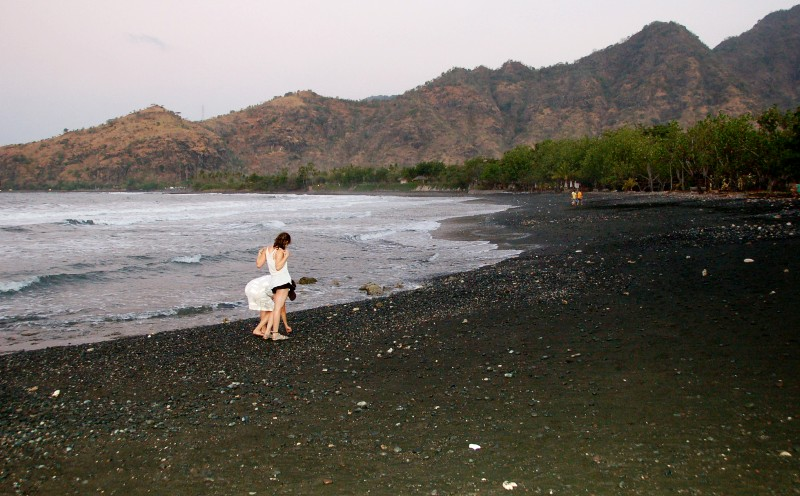 Black Sand of Pemuteran Beach, Bali