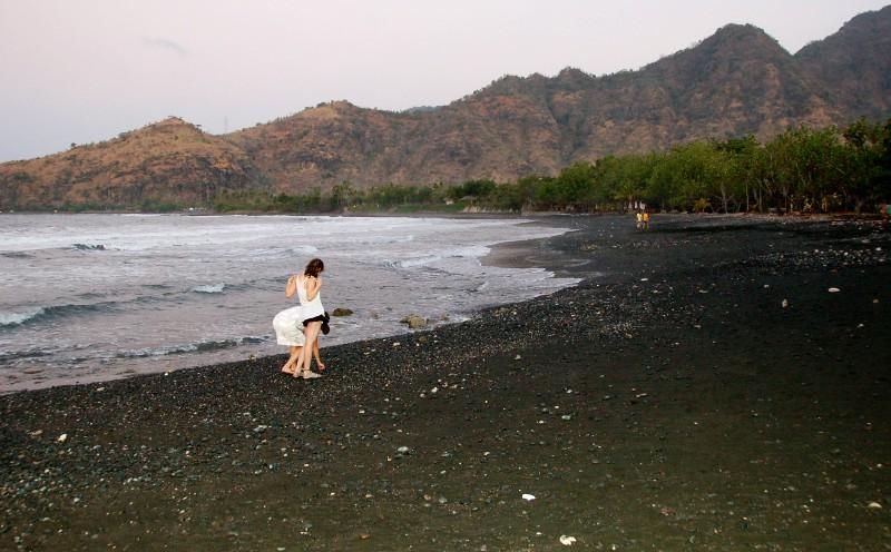 Black Sand of Pemuteran Beach, Bali