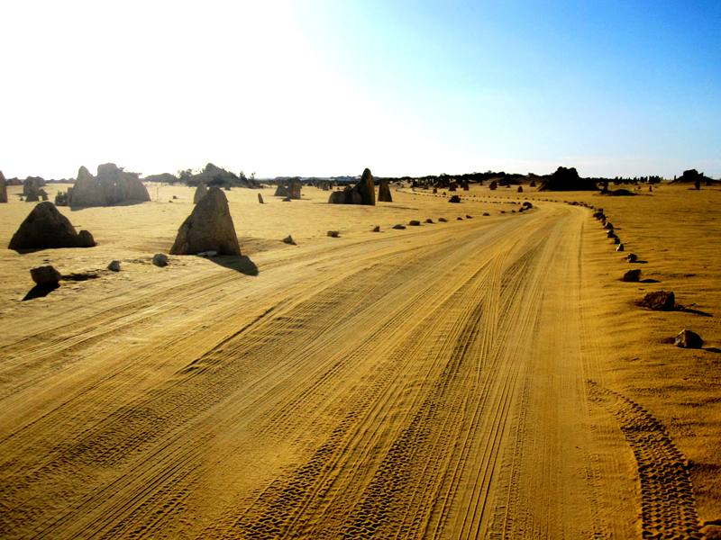 Road through Pinnacles Desert.Western Australia