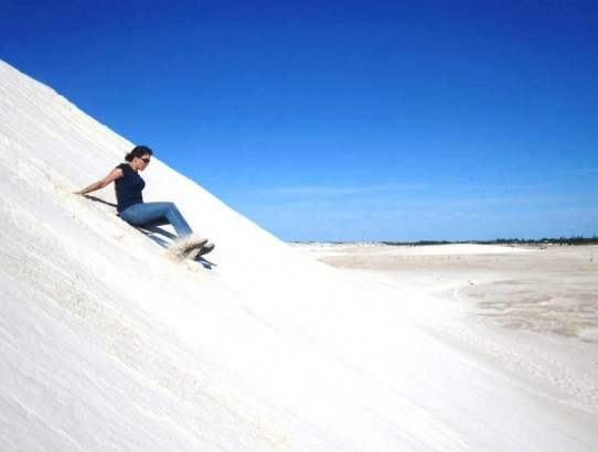 Sand Boarding at Lancelin Dunes in Western Australia