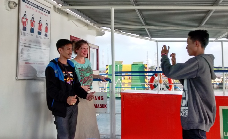 Java to Bali Ferry: Selfies on Gilimanuk Ferry