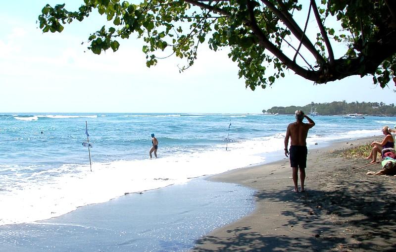 Snorkeling and swimming area off Pemuteran Beach.Bali