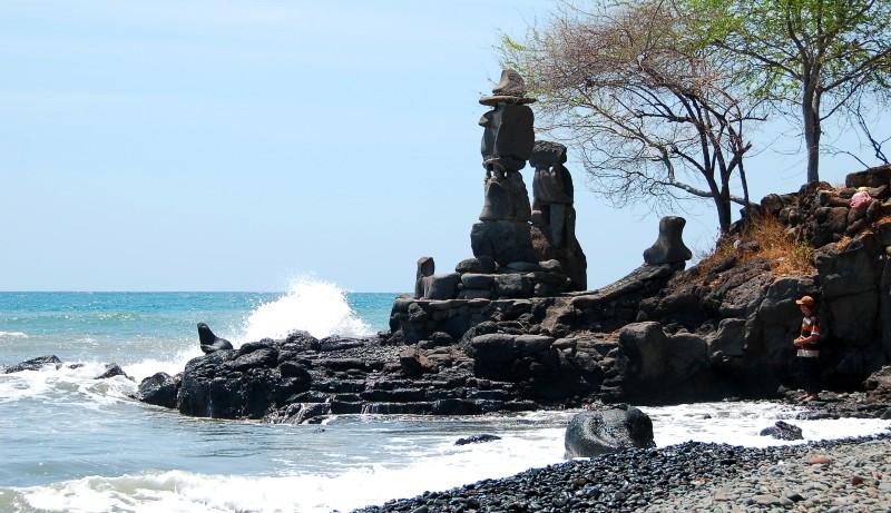 Statues at Pura Pabean.Pemuteran Bali