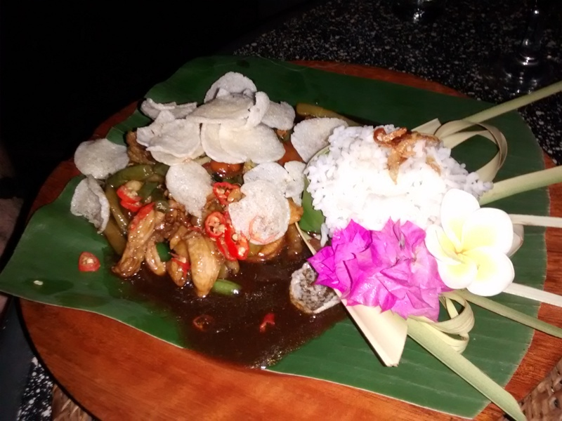 Tirta Sari Stir Fried Chicken and Rice.