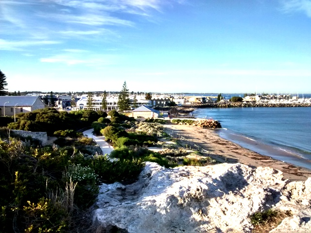 View of Fremantle Harbours from Round House.Fremantle Western Australia