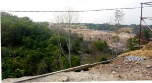 Balikpapan Land Clearing for housing developments. Kalimantan, Indonesia