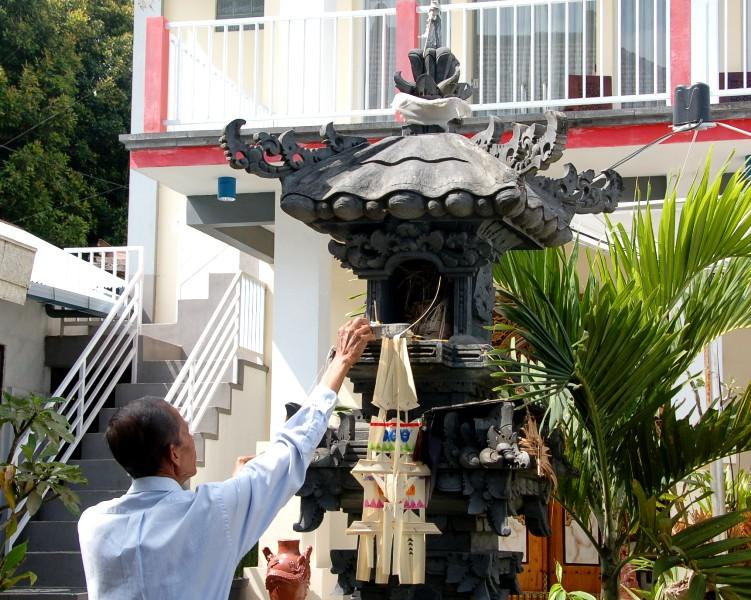 Family alter at Aditya Home Stay. Munduk, Bali