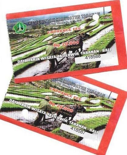 Jatiluwih Entrance Ticket