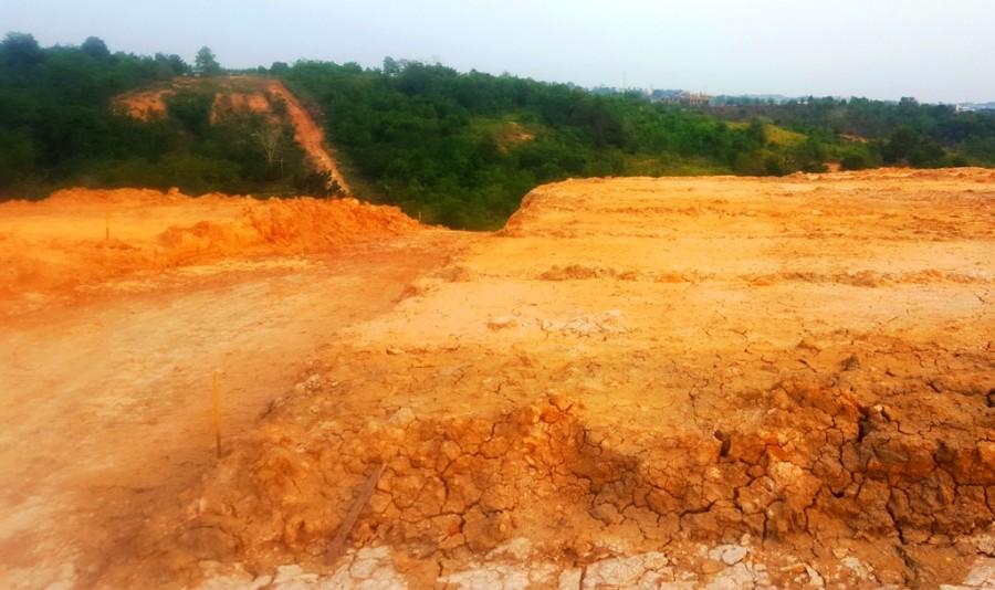 Land development in Balikpapan, Kalimantan, Indonesia