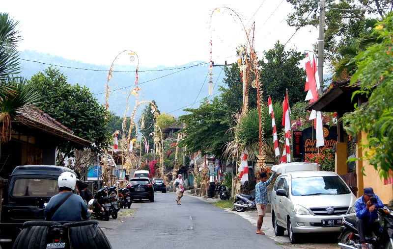 Downtown Munduk, Bali during Indonesia Independence Day