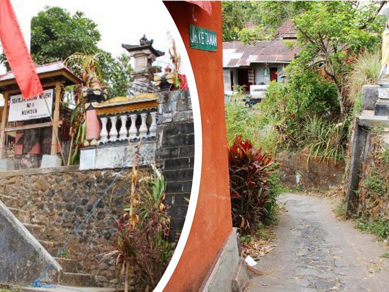 School and path to Melanting Waterfall, Munduk Bali