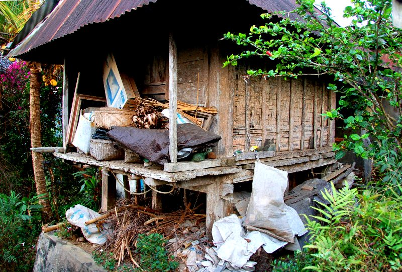 Shed where coffee is processed.Munduk Bali