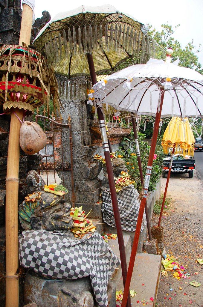 Bali temples. Temple at Twin Lakes Tamblingan and Bratan.Bali