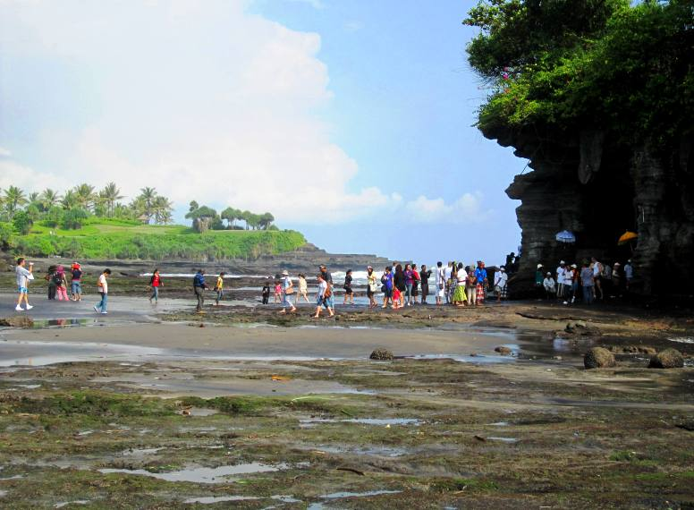 Low tide at Pura Tanah Lot. Important Bali Temples