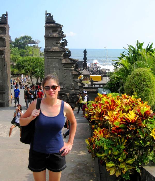 Entrance to Pura Tanah Lot.Important Bali Temples