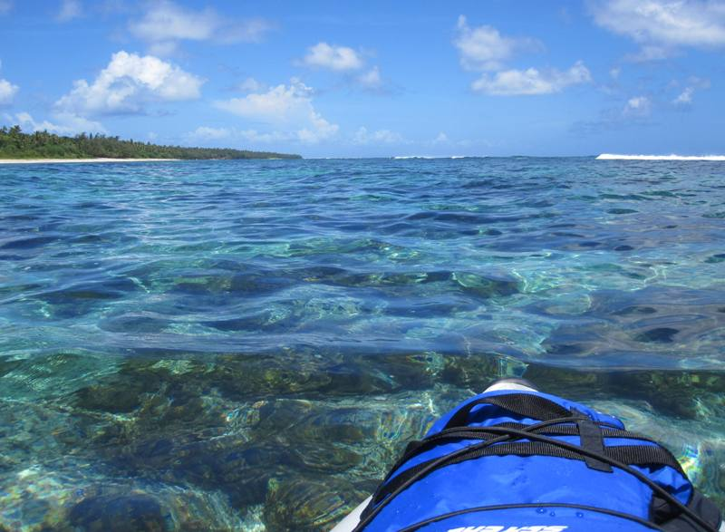 Kayaking around Ha'atafu Beach Reserve, Tongatapu, Tonga