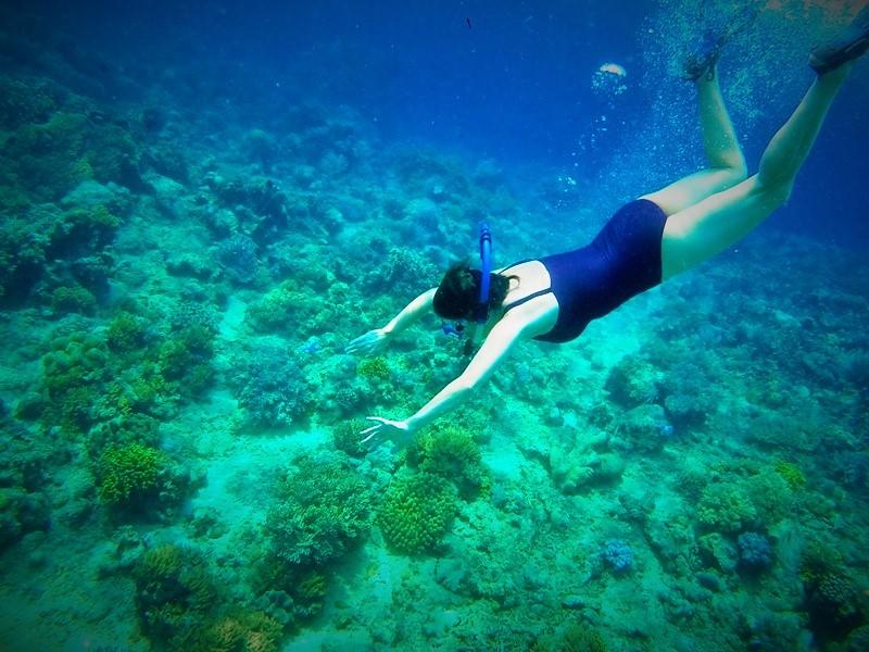 Snorkeling off Bunaken Island, Manado, Indonesia