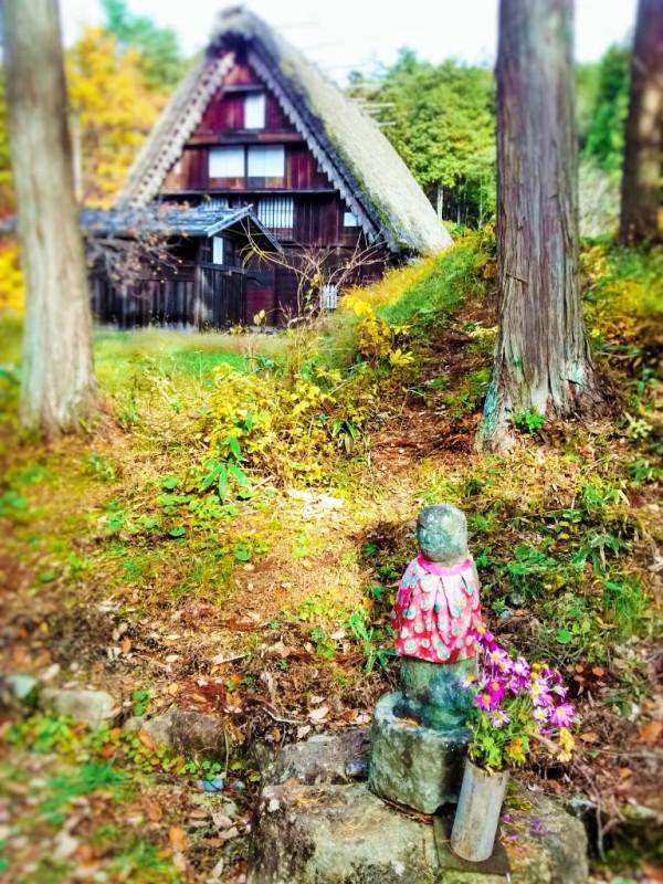 Small Shrine at Hida Folk Village.Takayama, Japan
