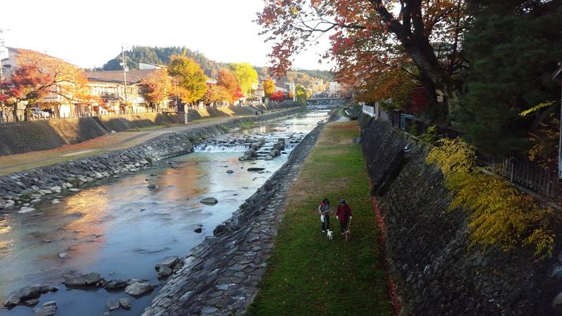Alpine river town of Takayama Japan