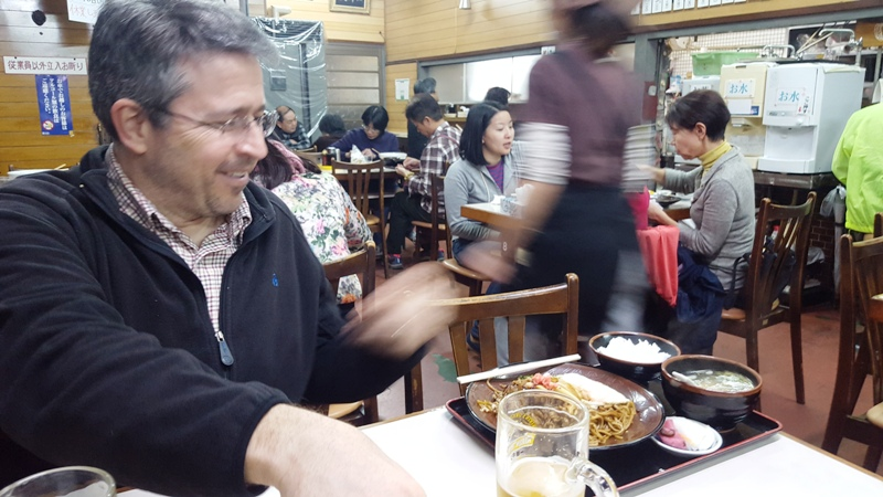 Dinner at Yakisoba Chitose.Takayama, Japan