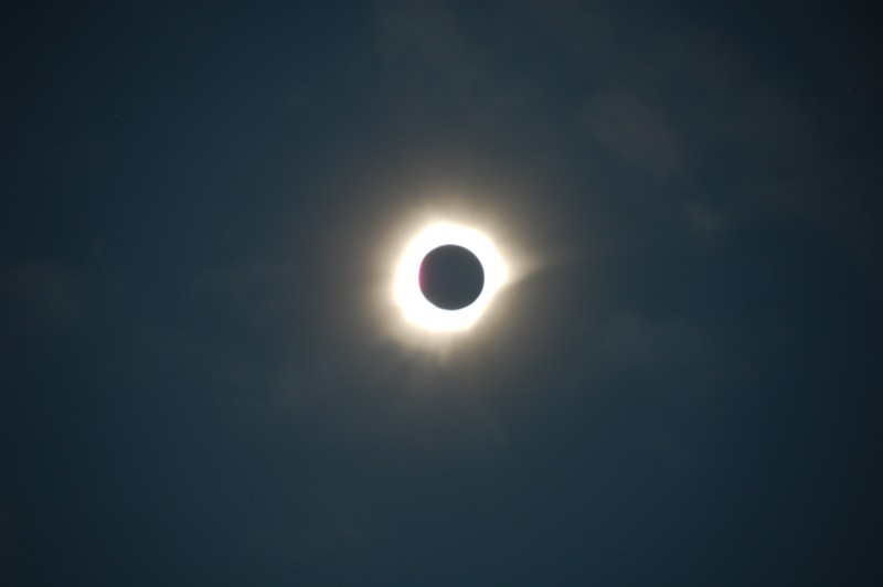 Unfiltered Total Solar Eclipse Very Close toTotality