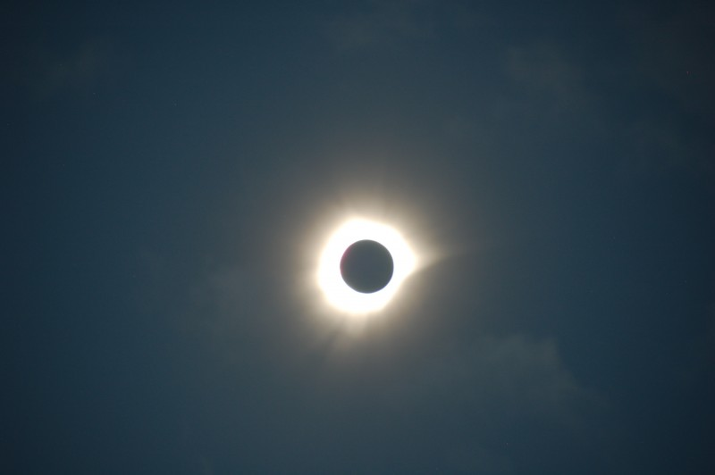 Unfiltered Total Solar Eclipse at Totality