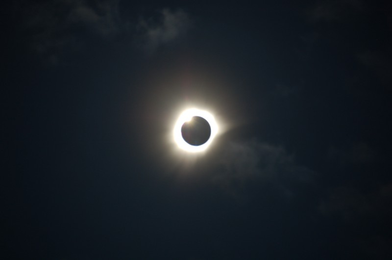 Unfiltered Total Solar Eclipse Just After Totality